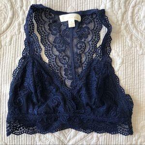 4/$20 Francesca's Navy Lace Bralette